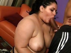 Chubby getting roped and fucked in hot..