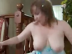 Busty mom and not her son