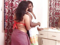 Horny girl romance with village..