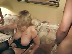 Chubby mature masturbates in solo and..