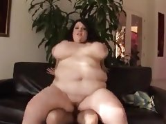 Brunette bbw with buddha-belly & huge..