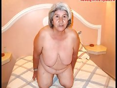 Old latina amateur granny with big..