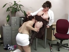Big titted mature teacher fucks a hot..
