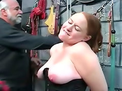 Fat schoolgirl into kinky dungeon play