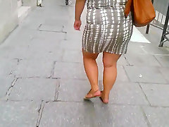 Bbw sexy fat legs big ass walking in..