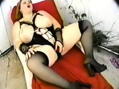 Big latina in lingerie masturbates..