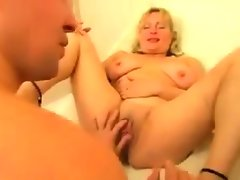 Fat bisexuals in a threesome with a guy